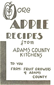 More Apple Recipes Booklet