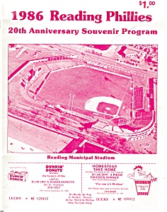 1986 Reading Phillies 20th Anniv. Program (Image1)