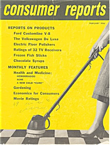 Consumer Reorts 1956 VW Beetle Article (Image1)