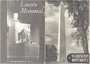 Dept of The Interior Washington Monuments Brochures 50s (Image1)