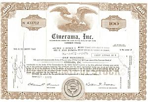 Cinerama, Inc Stock Certificate 1970 b0716 (Image1)
