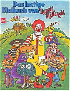 Ronald Mcdonald Coloring Book In German