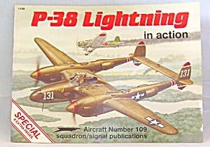 P-38 Lightning In Action No. 109 By Larry Davis (1990, Paperback, Revised)