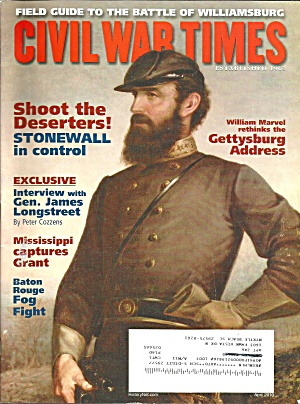 Civil War Times Magazine Stonwall In Cintro Apr 2010 B3948