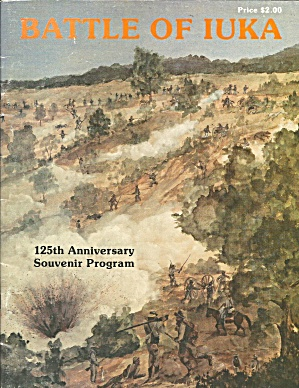 Battle Of Iuka 125th Anniversary Program Civil War B3975