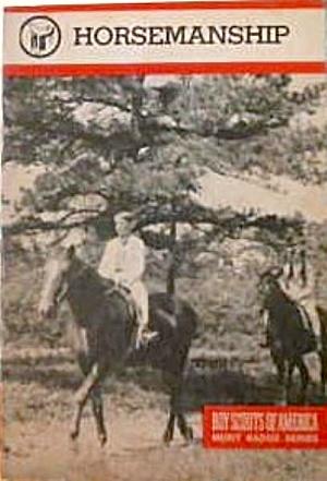 Boys Scouts of America Merit Badge Series Horsemanship 1981 B4051 (Image1)