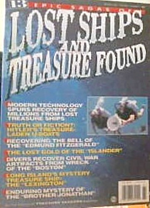 Lost Ships And Teasure Found Vol 1 No 1 Treashure Seekers Magazine 1996 B4096