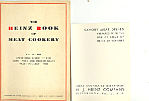Hj Heinz Company Vintage Cook Booklets Lot (2)