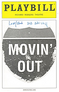 Movin Out  Richard Rodgers Theatre Playbill 2003 bk0010 (Image1)