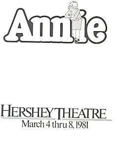 Annie, Hershey Theatre Playbill 1981 (Image1)