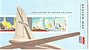 United Airlines System Map Ca 1950s Bk0043