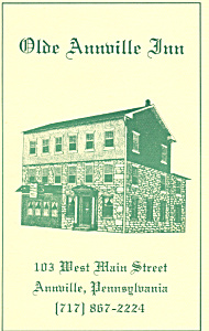 Olde Annville PA Inn Menu bk0057 (Image1)