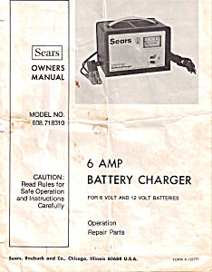 Sears Battery Charger Owners Manual (Image1)