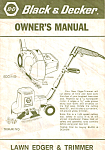 Black & Decker Lawn Edger & Trimmer Manual (Image1)