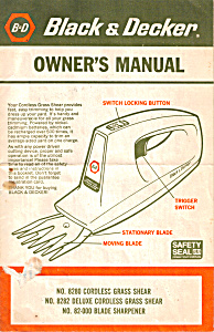 Black & Decker Cordless Grass Shear Manual (Image1)