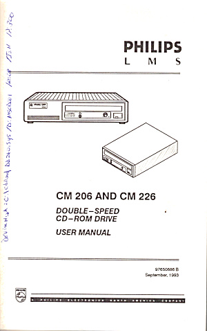 Phillips L M S Double Speed Cd-rom Drive User Manual