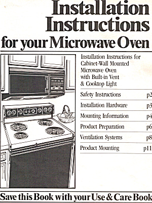 Installation Instructions for GE OverRange Microwave (Image1)