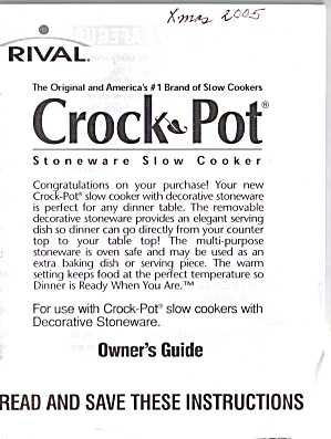 Rival Stoneware Slow Cooker (Image1)