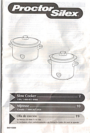 Proctor Silex Slow Cooker (Image1)