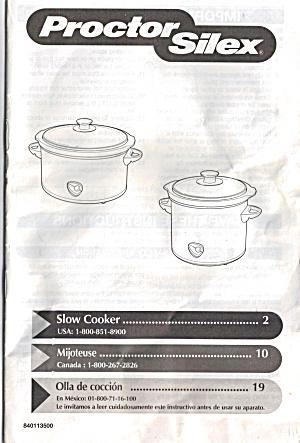 Proctor Silex Slow Cooker bk0136 (Image1)