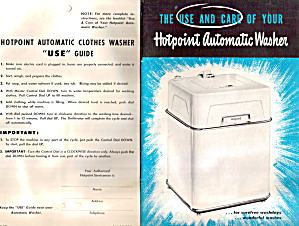 Hotpoint Automatic Clothes Washer Use Guide (Image1)
