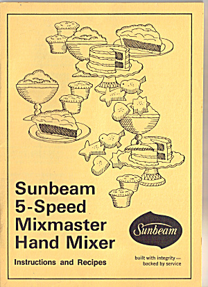 Sunbeam 5-Speed Mixmaster Hand Mixer Manual (Image1)