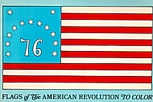 Flags Of The American Revolution To Color.