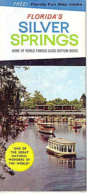 Florida S Silver Springs Home Of Glass Bottom Boats Bk0224