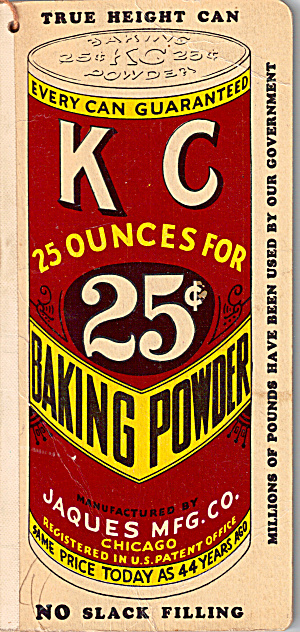 KC Baking Powder Memo Book 1936 (Image1)
