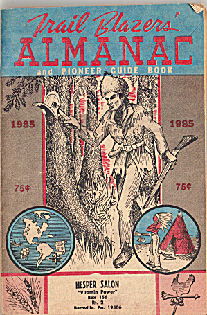 1985 Trail Blazers Almanac And Pioneer Guide Book