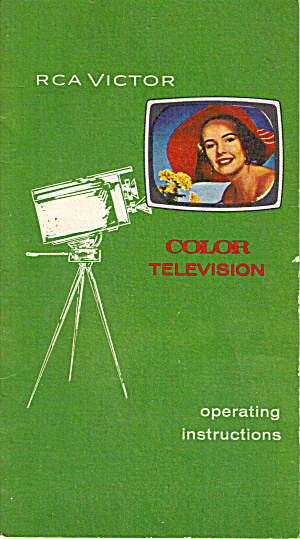 RCA Victor Color Television Operating Instructions (Image1)
