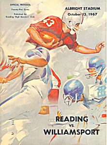 High School Football Program 1967 Reading PA (Image1)