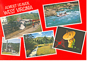 Almost Heaven West Virginia Postcard Ca2150