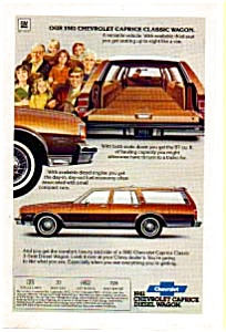 1981 Chevrolet Caprice Classic Wagon Ad (Image1)
