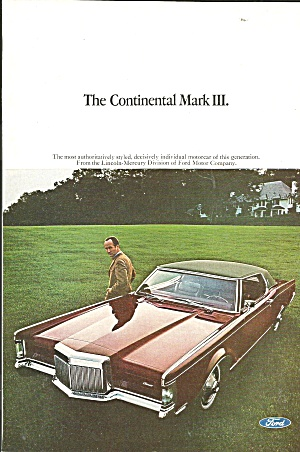 Lincoln Continental Mark III Ad cont011 (Image1)