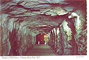 Chimney Rock Park NC Elevator Tunnel Postcard cs0042 (Image1)