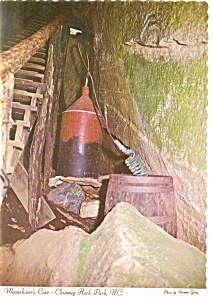 Chimney Rock Park NC Moonshiner s Cave Postcard cs0045 (Image1)