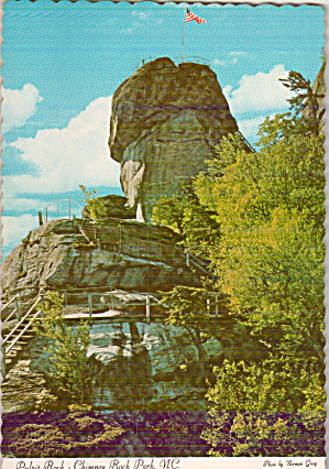Chimney Rock Park NC Pulpit Rock Postcard cs0047 (Image1)