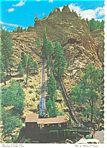 Incline Cable Car South Cheyenne Canon CO  Postcard cs0058 (Image1)