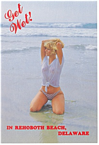 Get Wet in Rehoboth Beach, DE Bathing Beauty Postcard (Image1)
