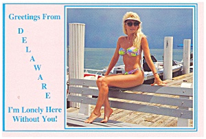 Rehoboth Beach, Delaware Bathing Beauty Postcard (Image1)