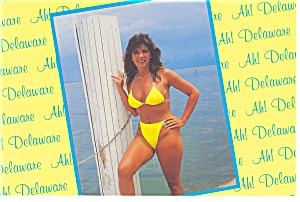Greetings From Delaware Bathing Beauty Postcard (Image1)