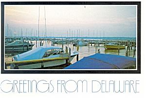 Marina Scene in Delaware Postcard (Image1)