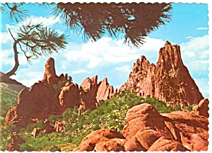 Panorama of the Garden of the Gods, CO Postcard (Image1)