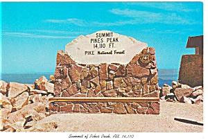 Summit of Pikes Peak CO Postcard cs0081 (Image1)