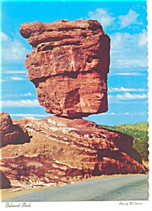 Balanced Rock Garden Of The Gods Co Postcard Cs0085