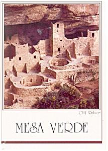 Cliff Palace Mesa Verde National Park,CO Postcard cs0089 (Image1)