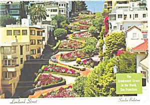 Lombard Street, San Francisco, CA Postcard (Image1)