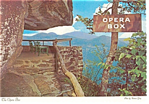 The Opera Box Chimney Rock Park Nc Postcard Cs0099