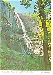 Hickory Nut Falls Chimney Rock Park NC Postcard cs0100 (Image1)
